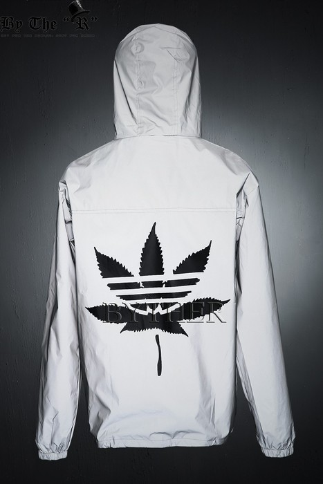 Weed Reflective Windbreaker