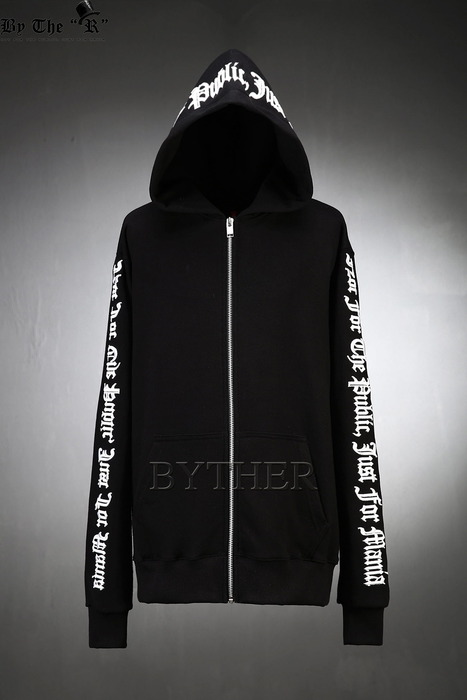 ByTheR Side Lettering Zip-up Hoodie