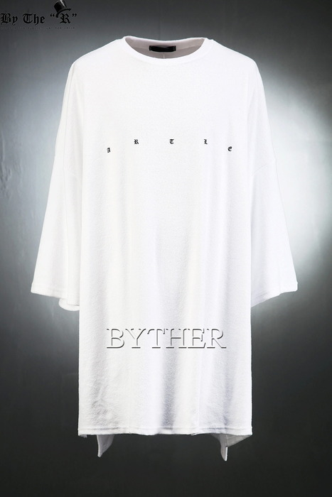 Over-fit Lettering Towel T-shirts