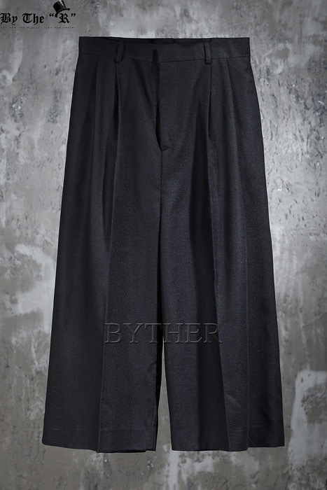 ByTheR Double Detail Wide Slacks Pants