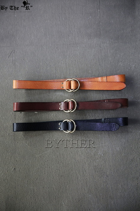 Double Ring Buckle Leather Belt