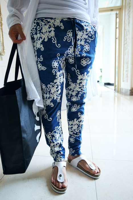 Floral Baggy Training Pants