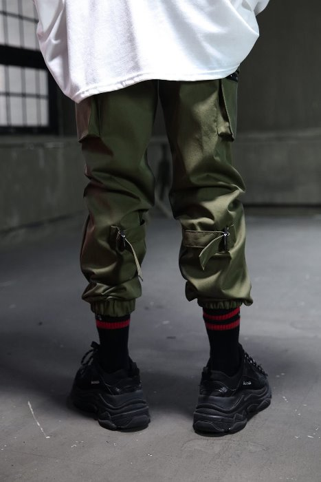 Strap Point Cargo Joggy Pants