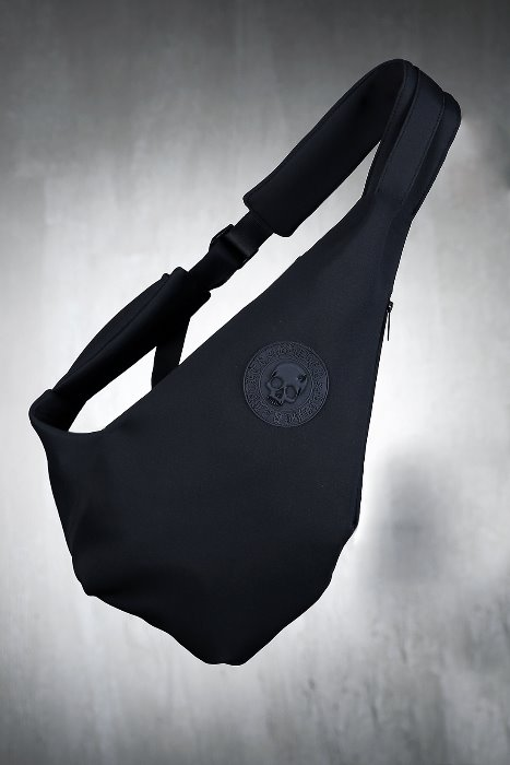ByTheR Skull Logo Black Cushion Sling Bag
