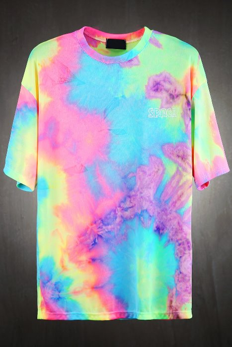 Space Aurora Tie-dye T-shirt
