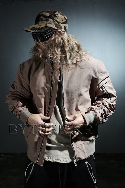Shirring Loose Fit Flight Jacket