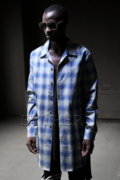 Blue Check Long Shirt
