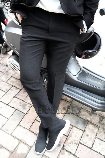 Basic Modern Black Slacks