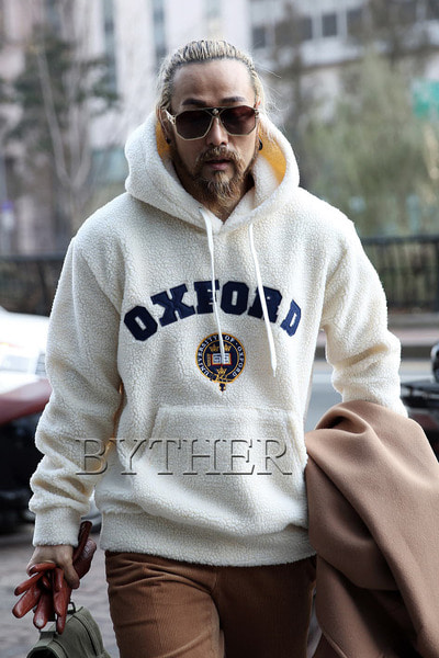 Oxford Patch Woolen Hoodie