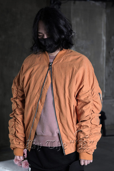 Mustard Sherring Sleeve Flight Bomber