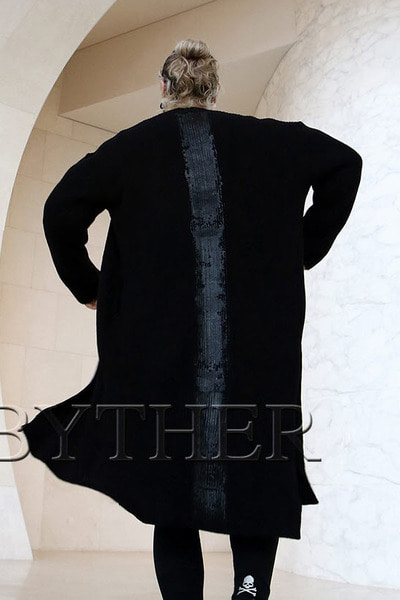 ByTheR Vertically Painted Cardigan