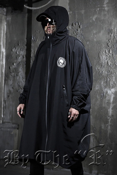 ByTheR Skull Logo Windbreaker Overcoat