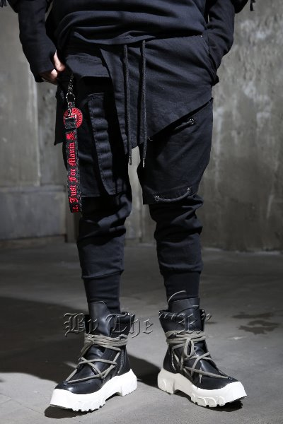 ByTheR Pannel Layered Extra Band Jogger Pants
