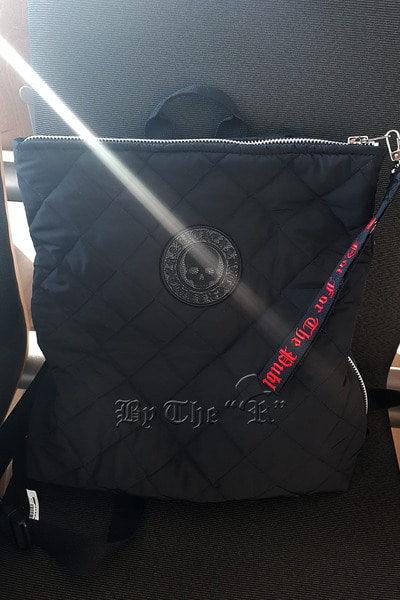 ByTheR Skull Logo Quilted Backpack