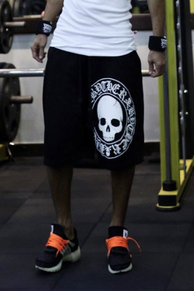 ByTheR Skull Logo Print Shorts