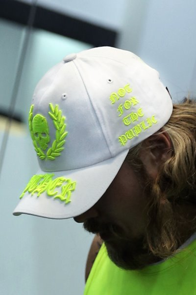 ByTheR Neon Embroidery White Ball Cap
